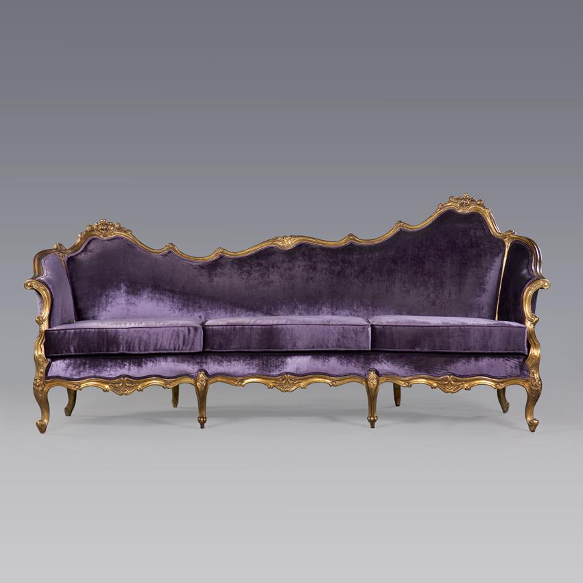 Samt Sofa hochwertige Stilmöbel Morris Antik
