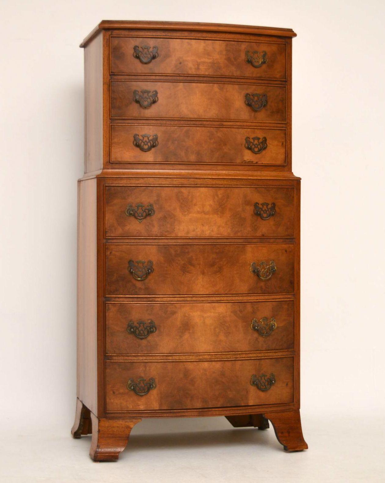 antike georgianische massivholz nussbaum kommode kommoden englische antiquit ten m bel. Black Bedroom Furniture Sets. Home Design Ideas
